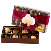 Premium Belgium Truffles Open Red Box - 8 PC Box