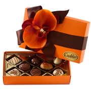 Premium Belgium Truffles Closed Orange Box - 8 PC Box