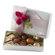 Premium Belgium Truffles Closed Silver Box - 8 PC Box