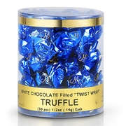 Twist Wrap White Chocolate Truffles - 30CT Tub