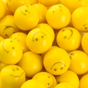 Yellow Smiley Face Gumballs