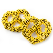 Chocolate Covered Pretzels with Yellow Sprinkles - 10CT Box