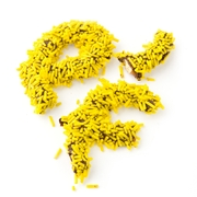 Yellow Sprinkle Broken Pretzel Pieces - 1 LB Bag