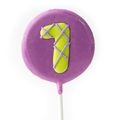 '1' Number Hard Candy Lollipop