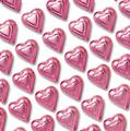 Pink Foiled Milk Chocolate Hearts