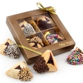 4-Pc. Chocolate Dipped Hamantaschen Gold Gift Box