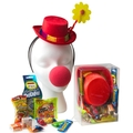 PERT - Purim Kids Clown Dress-Up Gift Basket Misloach Manos - 6 Pack