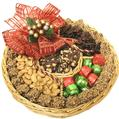 Large Holiday Nut Wicker Gift Tray