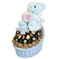 Baby Boy Bassinet Parve Chocolate Gift Basket