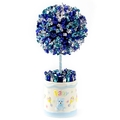 Baby Boy Blue Candy Round Topiary