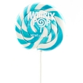 Blue & White Swirl Whirly Pops - Blueberry
