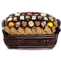 Chocolate Truffle & Marzipan Wicker Basket