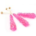 Pink Unwrapped Rock Candy Crystal Sticks