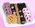 Baby Girl Ceramic Lace Gift Tray w Chocolate & Nuts