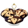 Assorted Hamantashen Cobalt Gift Tray