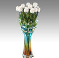 Dozen of White Milk Chocolate Roses Glass Vase