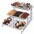 3-Tier Porcelain Silver Plated Rack