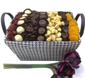 Blue & White Chocolate, Nut & Dried Fruit Basket - Israel Only