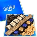 Hanukkah Menorah Glass Gift Tray