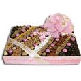Baby Girl Chocolate & Nut Square Gift Basket - Medium 9