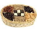 7-Section Chocolate & Nut Wicker Gift Tray