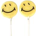 Yellow Smiley Face Lollipops - 1.5 oz