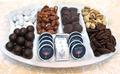 Hanukkah Nuts & Chocolate Ceramic Tray (Israel Only)