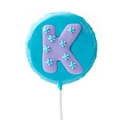 'K' Letter Hard Candy Lollipop