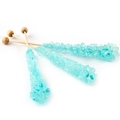 Light Blue Unwrapped Rock Candy Crystal Sticks - Cotton Candy