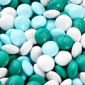 Light Blue, Teal & White M&M's Chocolate Candy