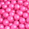 Bright Pink Shimmer Pearl Mini Gumballs