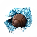 Non-Dairy Light Blue Foiled Diamond Chocolate Truffles