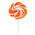 Orange & White Swirl Whirly Pops - Orange