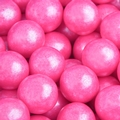 Bright Pink Shimmer Pearl Gumballs