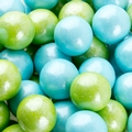 Powder Blue & Lime Green Shimmer Gumballs
