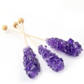 Grape Unwrapped Rock Candy Crystal Sticks - Purple