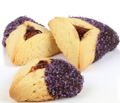 Purple Crystal Chocolate Dipped Hamantashen - 8CT Box