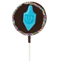 Rainbow Chanukah Dreidel Chocolate Pop