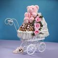 Baby Girl Chocolate Carriage