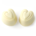 Non-Dairy White Coffee Chocolate Hearts