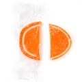 Large Wrapped Orange Jelly Fruit Slices -24 Pieces