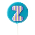 'Z' Letter Hard Candy Lollipop