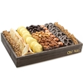 Purim Shalach Manos Gourmet Signature Wooden Gift Basket - Large 14