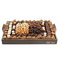 Wooden Gourmet Nuts and Chocolate Signature  Line Up Basket Gift- XL 18
