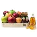 Rosh Hashanah Farmer's Basket W Fresh Apple & Pomogranate