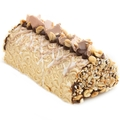 Hand-Crafted Embossed Peanut-Butter Truffle Chocolate Log