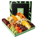 Oh! Nuts® Holiday Nut & Dried Fruit Gift Basket, Healthy Gourmet Christmas Variety Food Box, Prime Family Delivery. Mothers Fathers, Valentines Day, Men/Women Corporate Baskets for Birthday or Sympathy