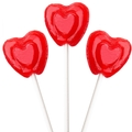 Cherry Heart Lollipops