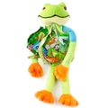 Purim Fun Frog Clear Treat Bag - 3 Pack