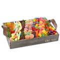 Wooden Candy Line-Up Gift Basket - Large
